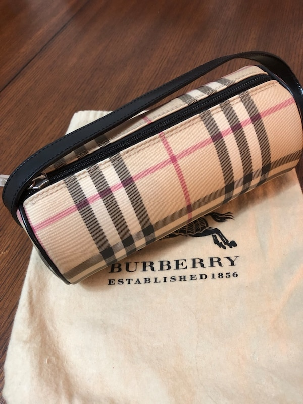 "Burberry Mini Barrel Novacheck Handbag. Authentic. EUC. L 7.5"" D 3.5"" and H3.5"""