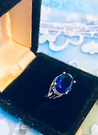 925 sterling silver blue sapphire ring  Los Angeles, 91403