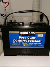 deep cycle marine battery used twice last summer s Kitchener, N2A 1T1