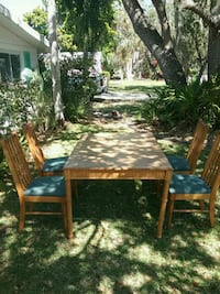brown wooden table with chairs Sarasota, 34231