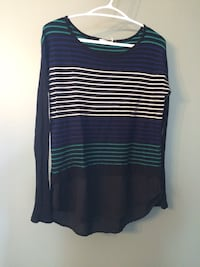 Ricki's Blue and green and white scoop-neck sweater Kawartha Lakes, K0M 2C0