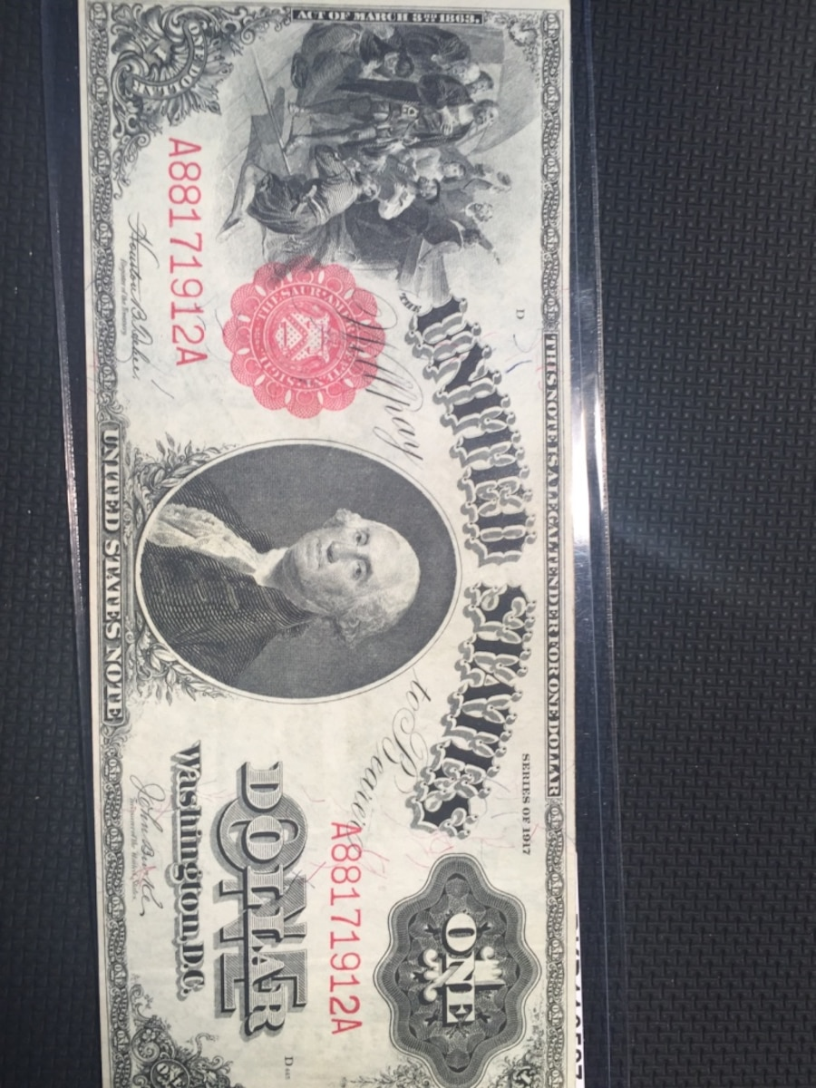 1917 $1  large size legal tender note.  - CA