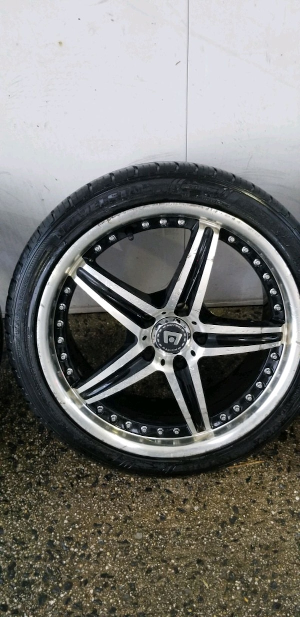 4  18in wheels rims with like new tires motegi racing 5x110    7e2e1a1a-f116-4318-9569-591a1b24fc97