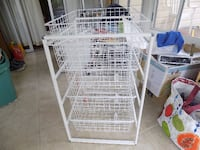 white utility with pull out baskets Silver Spring