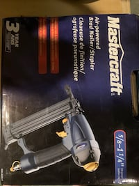 Mastercraft Air-powered Brad Nailer/Stapler