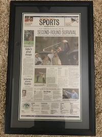 AT&T Pebble Beach National Pro-Am framed Newspaper San Diego, 92131