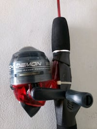 Zebco mini fishing rod and reel.