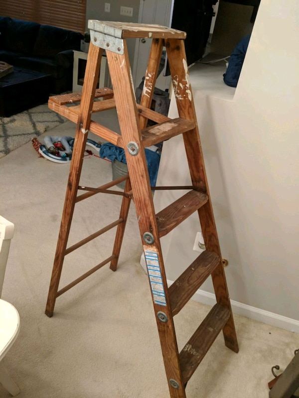 Rustic old ladder
