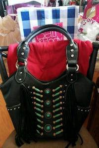 black and red leather tote bag Mansfield, 44905
