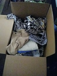 Box of asorted lady clothes very gently used, betw Turlock, 95380