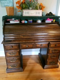 Roll top desk solid wood Orland Park