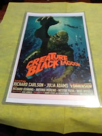 Creature from black lagoon poster Hedgesville