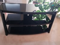 black wooden glass translucent tv stand Guelph, N1E 6X2
