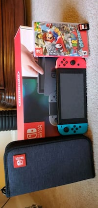 Nintendo Switch Bundle with 2 games and case