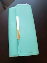 Turquoise wallet. Sterling, 20165