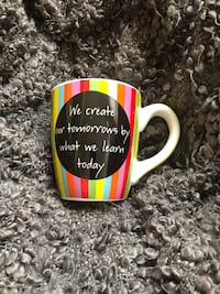 """Teacher gift cute Coffee Mug """"We create our tomorrows by what we learn today""""  Frederick, 21701"""