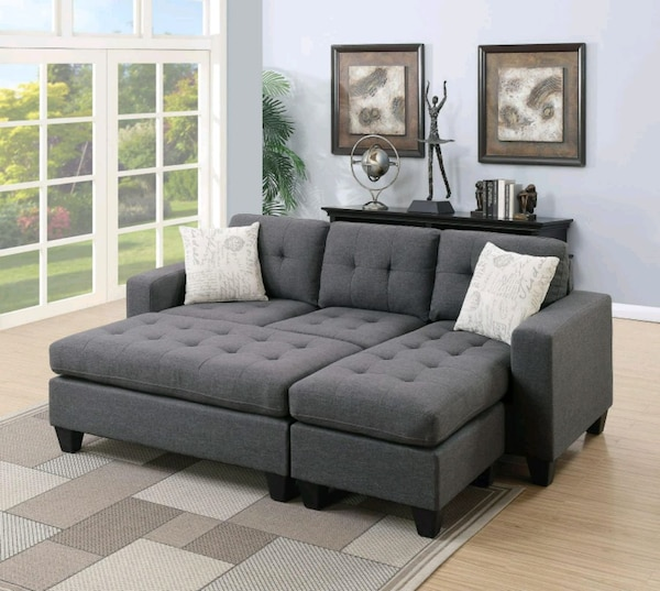 NEW !! Gray Polyfiber Sectional•12 payments of $45 0db91304-489e-489d-abef-e3aca0d1083c