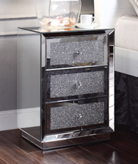 Rekha Mirrored Nightstand ******* Free Delivery*** Las Vegas