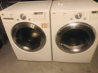 white LG front-load clothes washer and dryer set Orlando, 32839