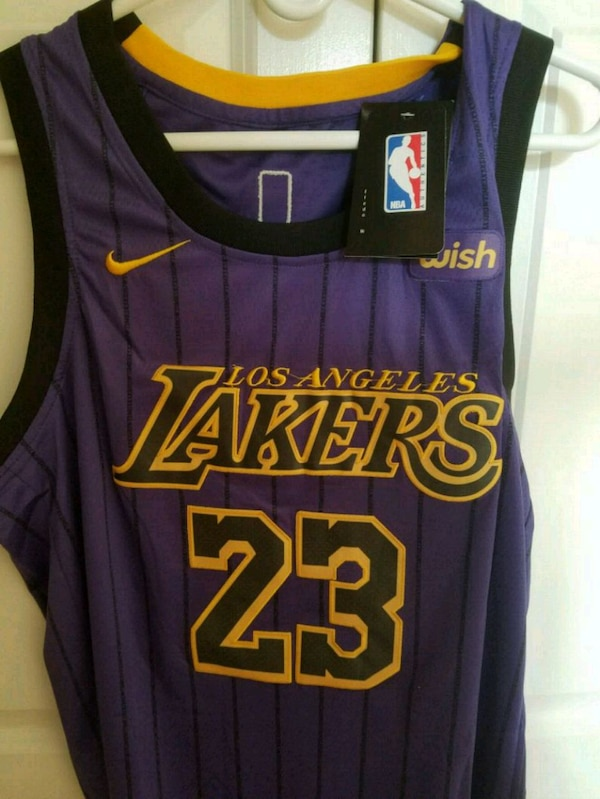the latest 55b68 f8884 Lakers Lebron James jersey