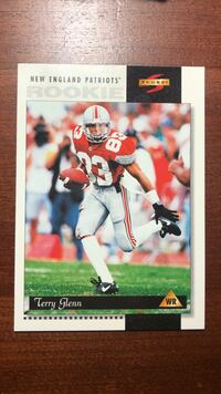 New England Patriots Terry Glenn trading card