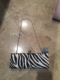 Forever 21 zebra clutch with detachable strap 2247 mi