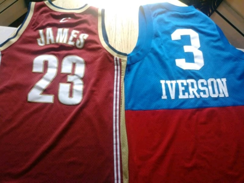 New Allen Iverson and 2x worn Lebron Jersey  fb2d9567-8535-4fac-af95-206288979302