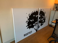 Wall canvas decoration