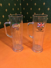 two clear glass beer mugs Spring, 77388