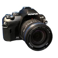 olympus e-410   2 lenses 14-42 and 40-150 , bag with 3 memories card 2g and charge