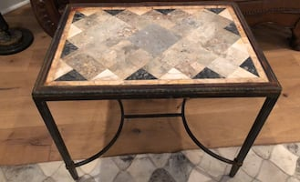 Stone top leaded table
