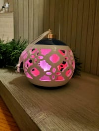 Table top color changing LED light holiday ornament