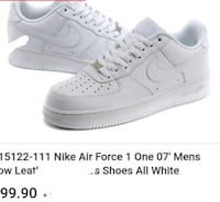pair of white Nike Air Force 1 low Portland, 97230