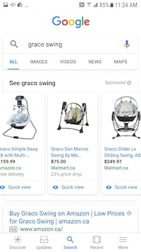 Graco cradle and swing. $60 or BO. Hardly used Toronto, M3C