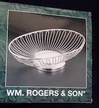 BEAUTIFUL WIRE SERVING BOWL - BRAND NEW - BY ROGERS AND SON Toronto