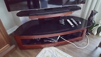 black and brown wooden TV stand Mississauga, L4Z