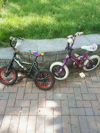toddler's two pink and black bicycles Markham, L3T 4W7