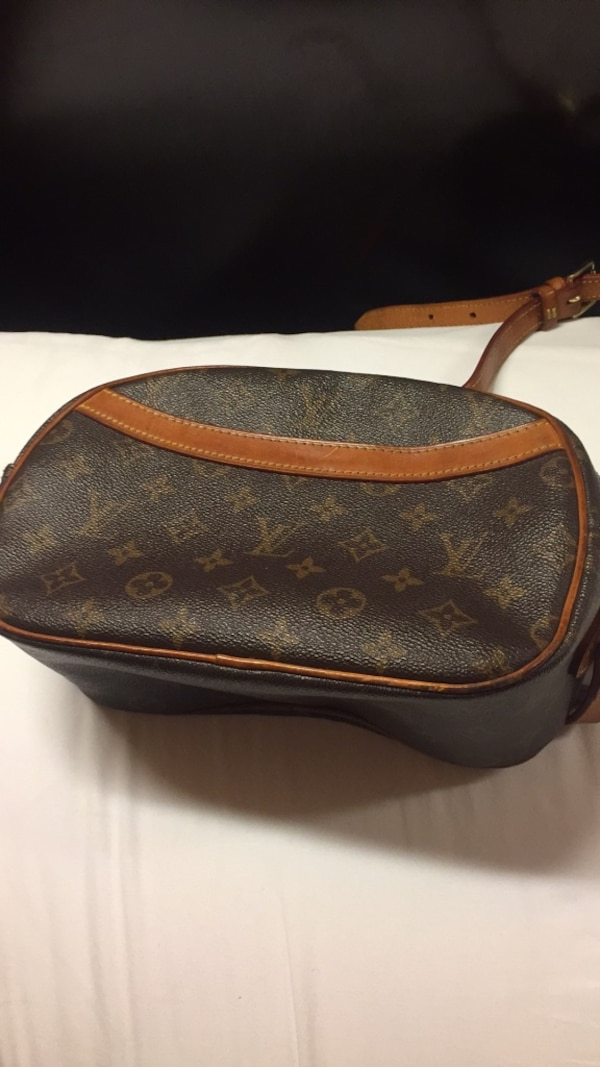 3d9d7c22e010 Used Brown and black leather louis vuitton crossbody bag for sale in Dallas  - letgo
