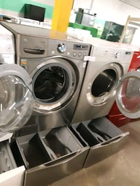 LG FRONT LOAD WASHER AND GAS DRYER SET WITH PEDESTAL WORKING PERFECTLY Baltimore, 21223