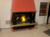 black and red electric fireplace Moorhead
