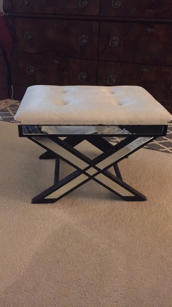 rectangular white and black wooden table