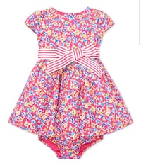 Polo Ralph Lauren baby girl floral print fit flare