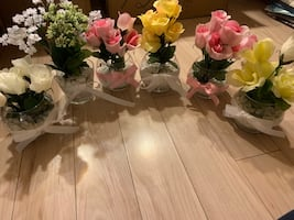 Faux Flower Vases/Centerpieces