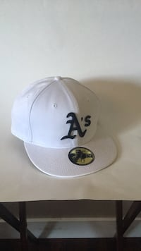 New Era White and Black A's baseball cap Oakland, 94601