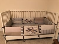 White  wooden crib with mattress  Alexandria, 22304