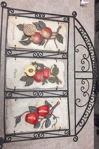 Hanging wall art, rod iron, fruit design, $25 Toronto, M6E 2J4