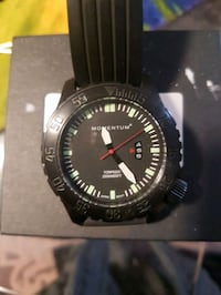 round black analog watch with black strap Coquitlam, V3C 5P8