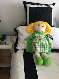 Baby Doll In Green And White Dress Vancouver