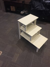 white wooden 3-tier rack Washington