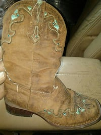 pair of brown leather cowboy boots Rathdrum, 83858